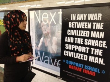 civilized man advertisement in a U.S. subway