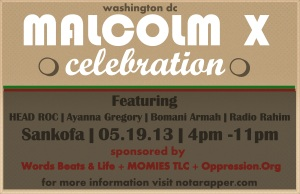 malcolm x day flyer